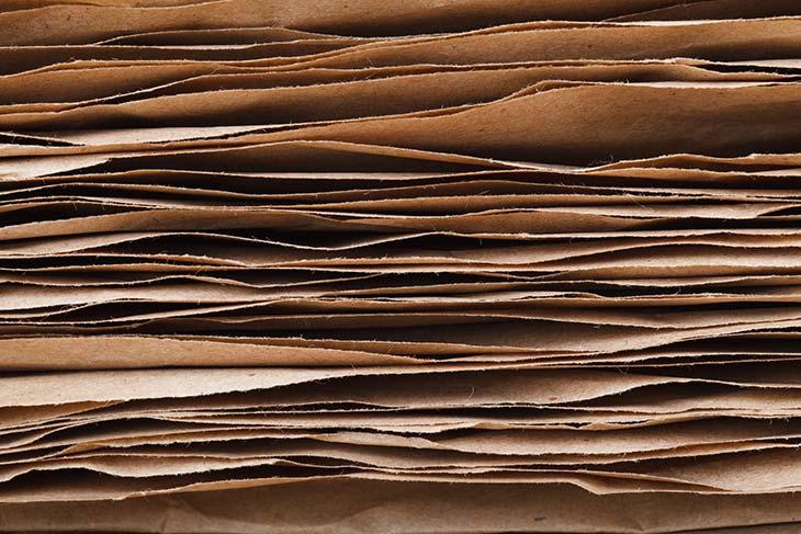 Broken paper bags mulch
