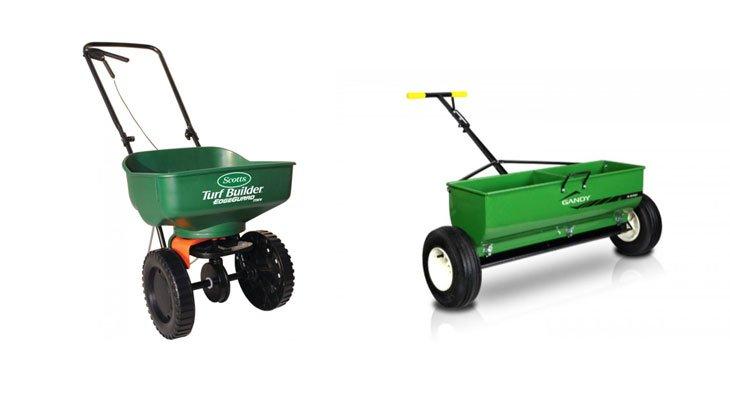 Broadcast Spreader Yard Work : Best fertilizer spreaders broadcast drop hand held and